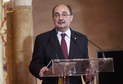 Discurso de Javier Lambán en el Día de Aragón. Palacio de la Aljafería