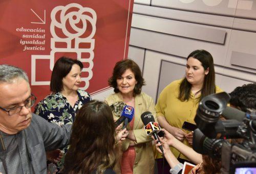 Carmen Calvo destaca que Aragón es un claro ejemplo de lo que son las políticas socialistas