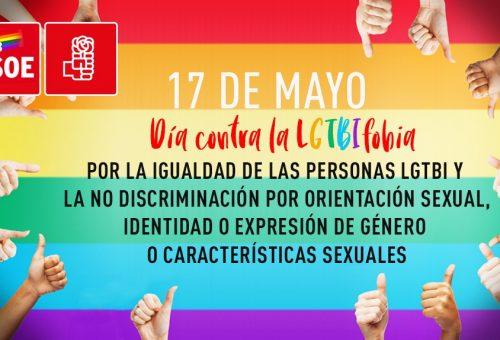 Manifiesto Día Internacional Contra la Homofobia, Transfobia, Lesbofobia y Bifobia (LGTBIfobia)