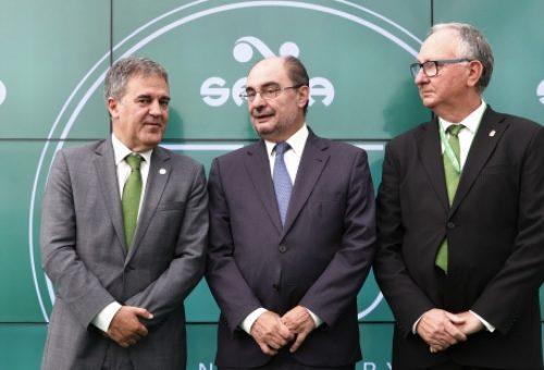 Lambán elogia el modelo de éxito de la multinacional aragonesa Saica en la celebración del 75 aniversario