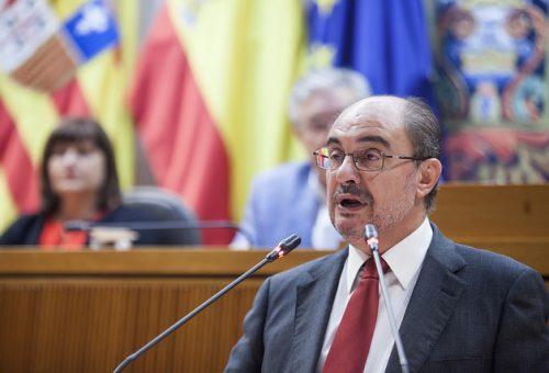 Anuncios del Gobierno de Javier Lambán