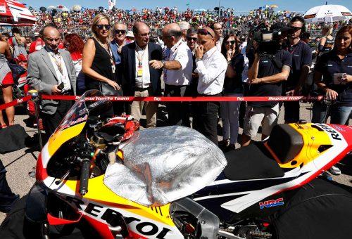 Lambán subraya la pujanza y buena salud del Gran Premio del mundial de Moto GP en Alcañiz en su novena edición