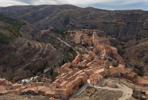 Obras para la estabilización de un talud en la carretera A-1512, en Albarracín
