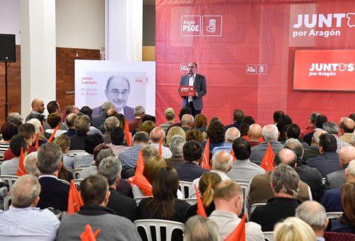 """Lambán: """"El único partido que realmente aspira a gobernar España y tiene programa para hacerlo es el PSOE"""""""