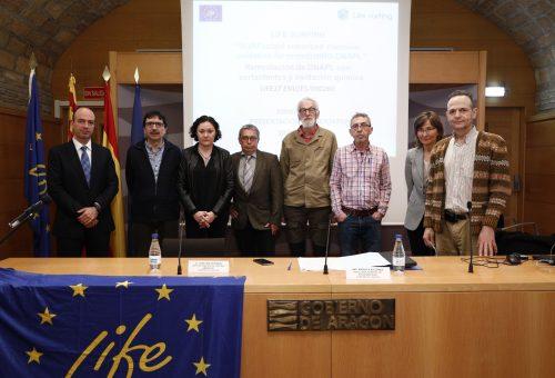 El Gobierno de Aragón ha presentado este miércoles, en la sala Ordesa del Edificio Pignatelli, el nuevo proyecto LIFE SURFING para la eliminación de los residuos de lindano.