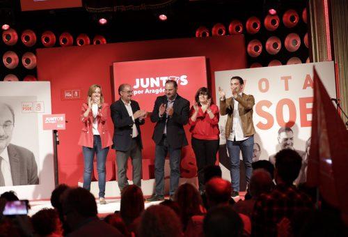 """José Luis Ábalos: """"Javier Lambán y Pilar Alegría son piezas básicas para desarrollar el proyecto de Pedro Sánchez en España. Por eso, hay que revalidar la victoria del PSOE este 26 de mayo"""""""