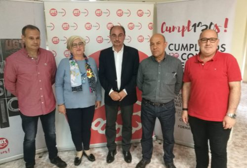Lambán valora positivamente el momento que ha alcanzado el diálogo social en Aragón y el impulso de la ley que ha institucionalizado las relaciones con los agentes sociales