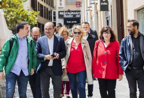 """Lambán llama a votar al PSOE este domingo: """"No se puede perder el momento espléndido que vive Aragón devolviendo el gobierno a quienes arruinaron la comunidad"""""""
