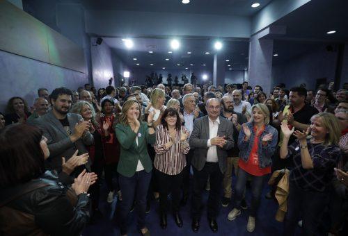 """Javier Lambán: """"El PSOE ha obtenido una victoria rotunda, lo que  quiere decir que las políticas que hemos llevado han sido bien entendidas por los aragoneses"""""""