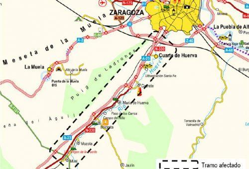 Fomento licita las obras de rehabilitación del firme del tramo Muel-enlace Z-40, de la autovía A-23