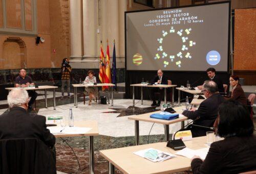 El Gobierno de Aragón analiza con CERMI, COAPEMA y la Plataforma del Tercer Sector las necesidades provocadas por la crisis del coronavirus