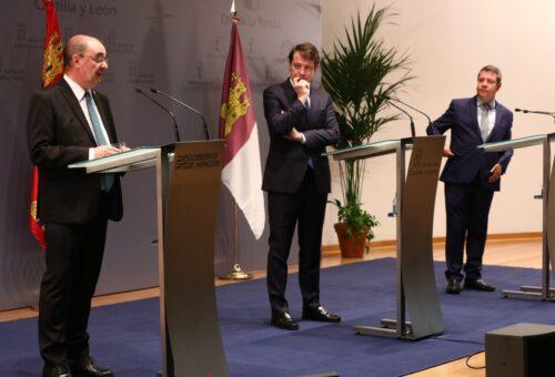 Aragón, Castilla y León y Castilla-La Mancha acuerdan reclamar un régimen especial de ayudas de compensación a las empresas de Soria, Teruel y Cuenca