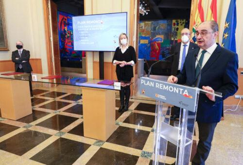 El Gobierno de Aragón impulsa el Plan Remonta con una dotación inicial de 2,5 millones de euros para emplear a trabajadores sin prestaciones de las comarcas de la nieve