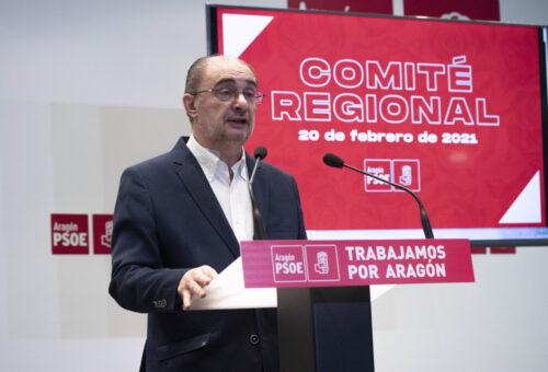 """Lambán: """"Sólo los socialistas somos capaces de gobernar desde la centralidad y los grandes acuerdos. El PSOE es la clave de bóveda de la gobernanza en España y Aragón"""""""