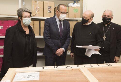 Lérida entrega a Aragón otras 42 obras de arte, lo que suma 70 de los 111 bienes que tienen que regresar