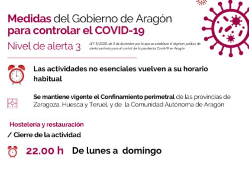 Aragón pasa al nivel de alerta 3 ordinario