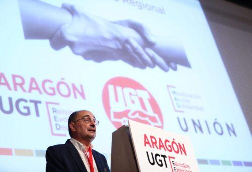 Lambán anuncia la convocatoria inmediata de la mesa que aborde la subida salarial del 0,9% a los empleados públicos