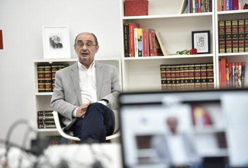 """Lambán: """"Los planes europeos coinciden con nuestro programa de gobierno de encaminar la comunidad hacia un Aragón social, verde y digital"""""""