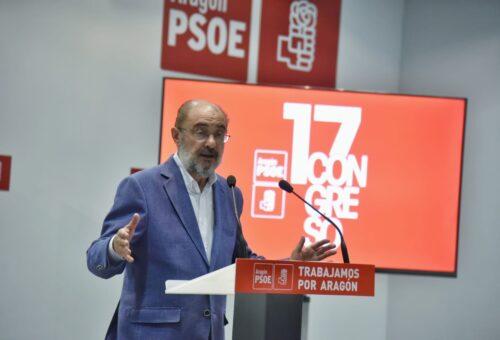 Javier Lambán revalida su liderazgo al frente del PSOE Aragón y será reelegido secretario general