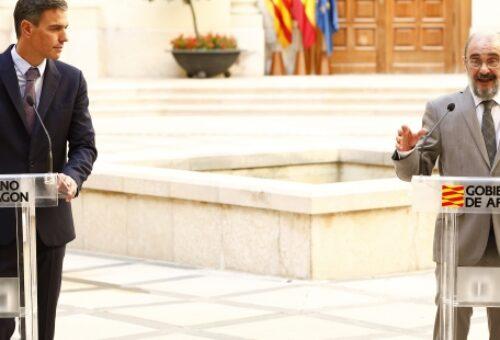 Pedro Sánchez y Javier Lambán aseguran que la candidatura de los Juegos Olímpicos de Invierno 2030 es un proyecto de Estado con diseño de igual a igual entre Aragón y Cataluña