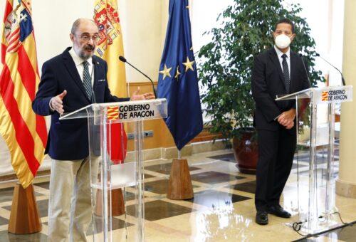El Gobierno de Lambán y Amazon acuerdan impulsar un ecosistema digital y apostar por un campus de FP digital en Aragón