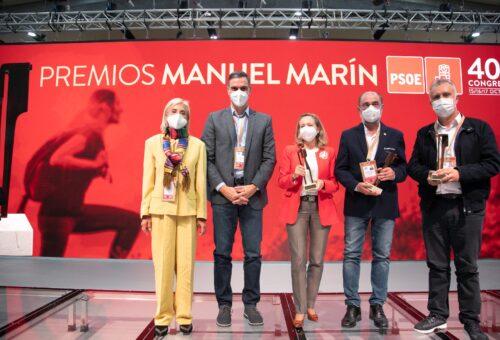 """Javier Lambán recibe el Premio 'Manuel Marín' en el 40º Congreso del PSOE por su """"ejemplo de cogobernanza"""" donde la justicia social y la igualdad son ejes de su acción política"""